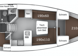 Bavaria 37 Layout Windkracht5